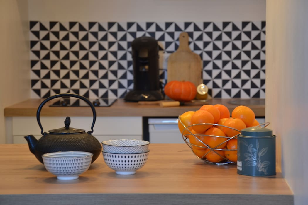 Petit volume, vaste perspective Agence Maïlys MOUTON Cuisine scandinave