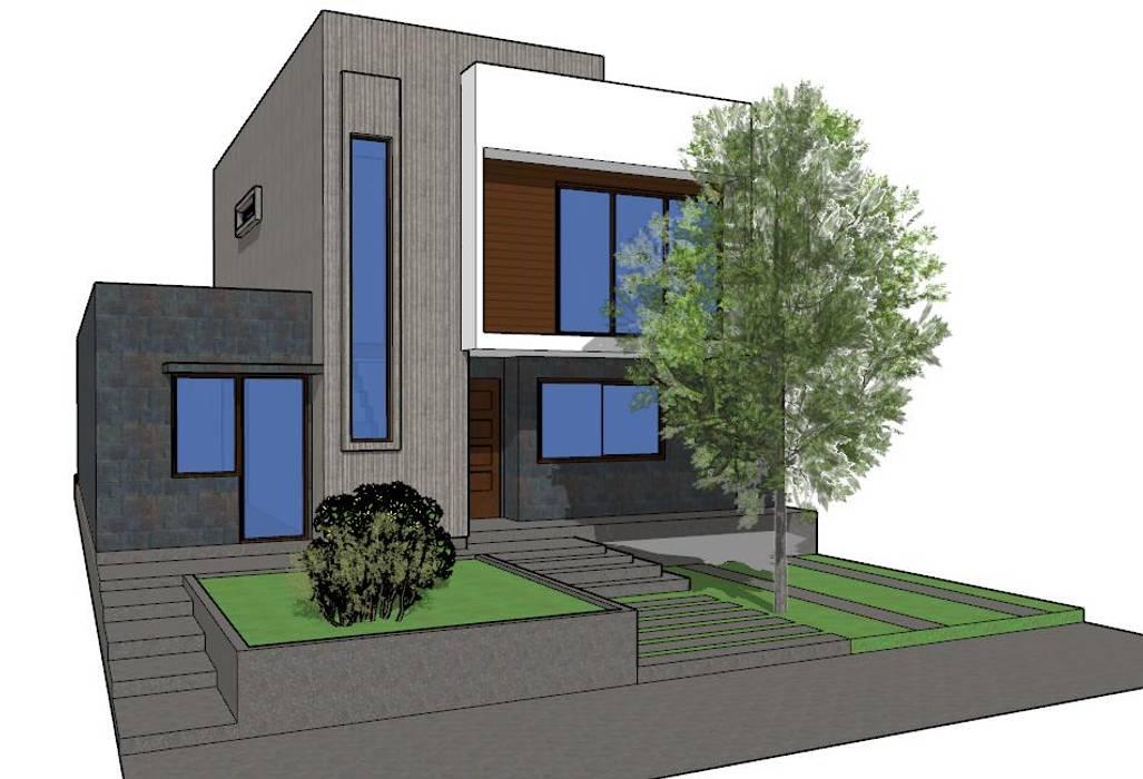 Casa Contemporanea 120m2 de DUHOUSE Moderno Madera Acabado en madera