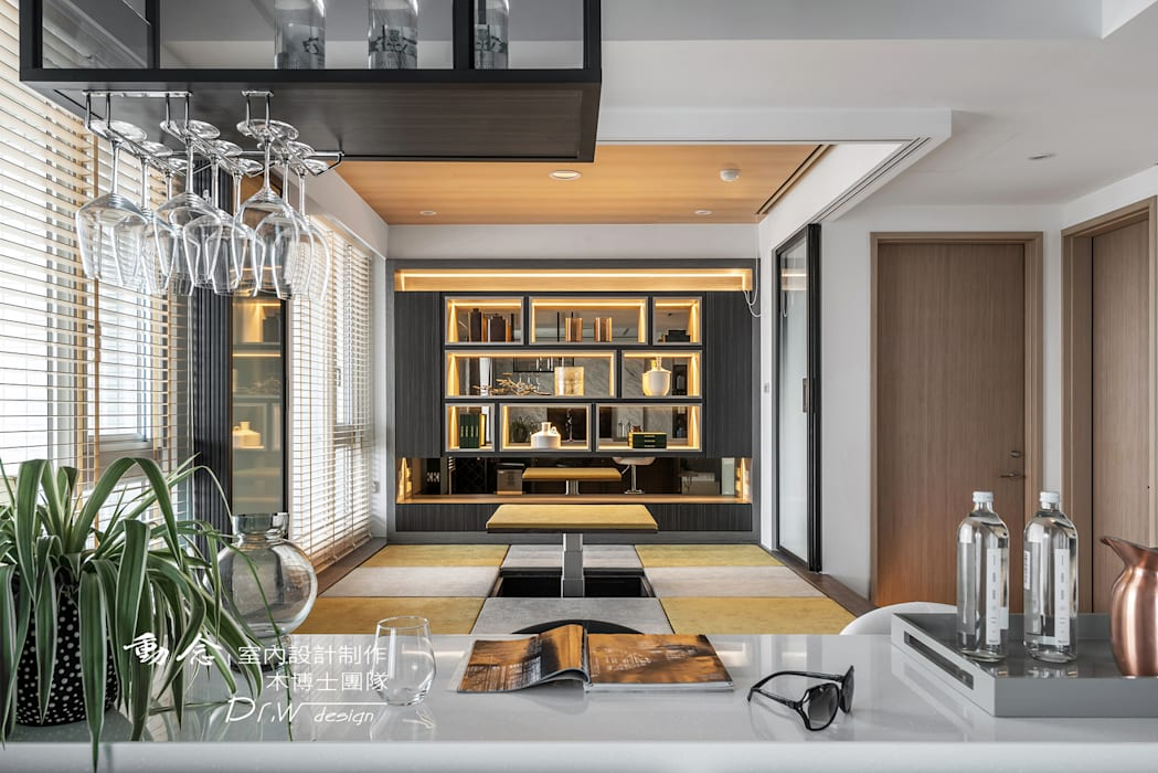 休閒和室區:  客廳 by 木博士團隊/動念室內設計制作, 現代風