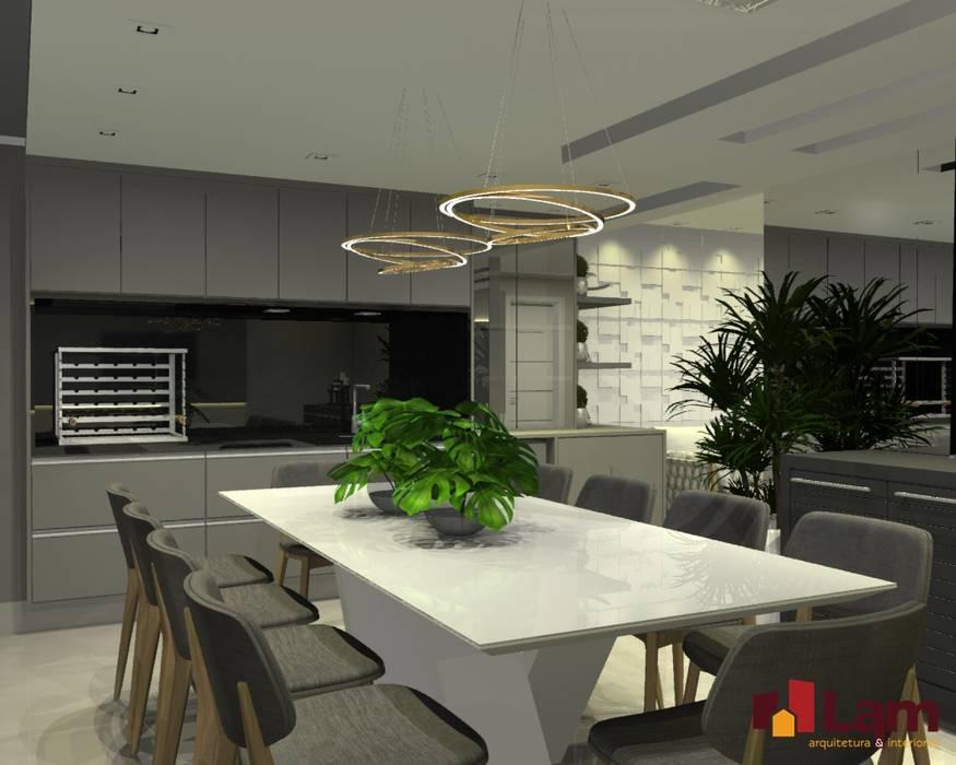 Teras oleh LAM Arquitetura | Interiores, Modern