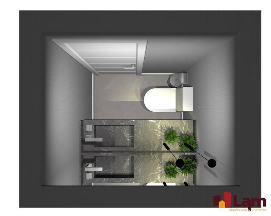 Kamar Mandi oleh LAM Arquitetura | Interiores, Modern
