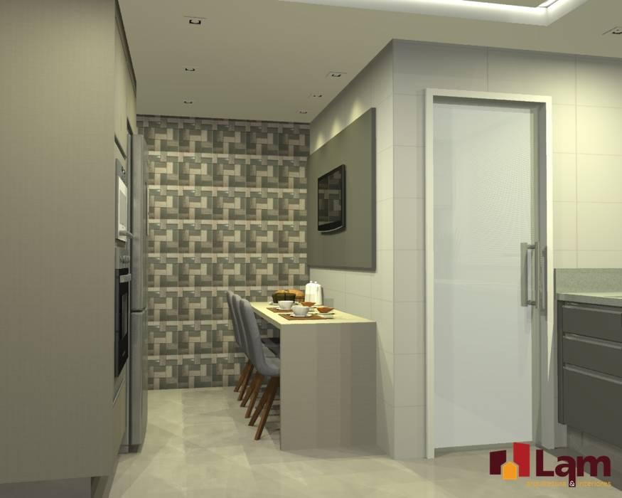 Dapur oleh LAM Arquitetura   Interiores, Modern