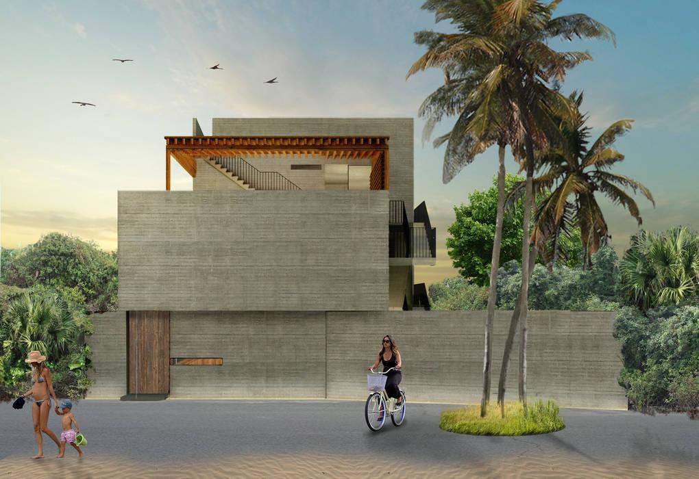 Chukum Nah Tulum de Habitual Taller de Arquitectura Tropical Concreto