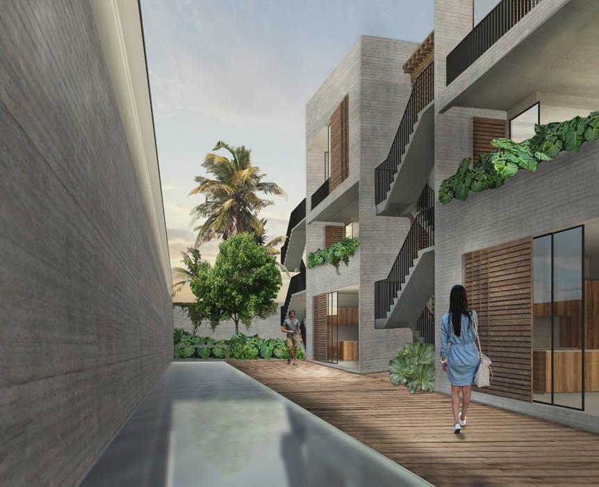 by Habitual Taller de Arquitectura 휴양지 콘크리트