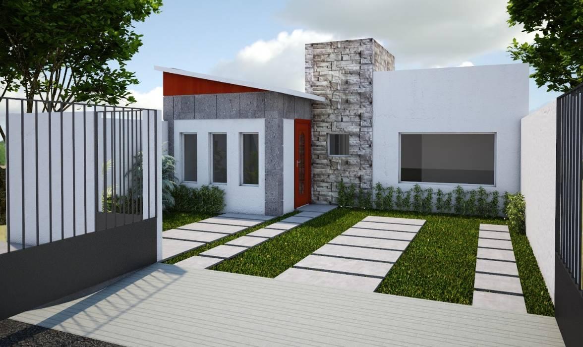 Casa habitación : Casas pequeñas de estilo  por Arquitectura y construcción FRATELLI