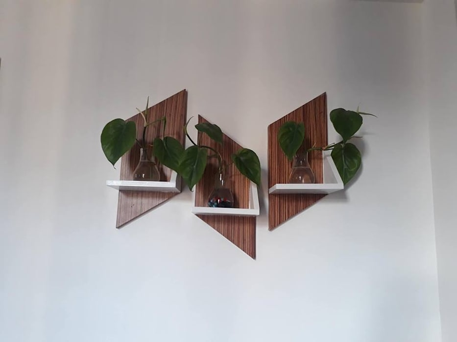 Decorative shelves: minimalist  by SHUFFLE DESIZN,Minimalist Engineered Wood Transparent