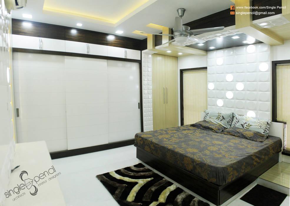 Camera da letto piccola in stile di single pencil architects ...