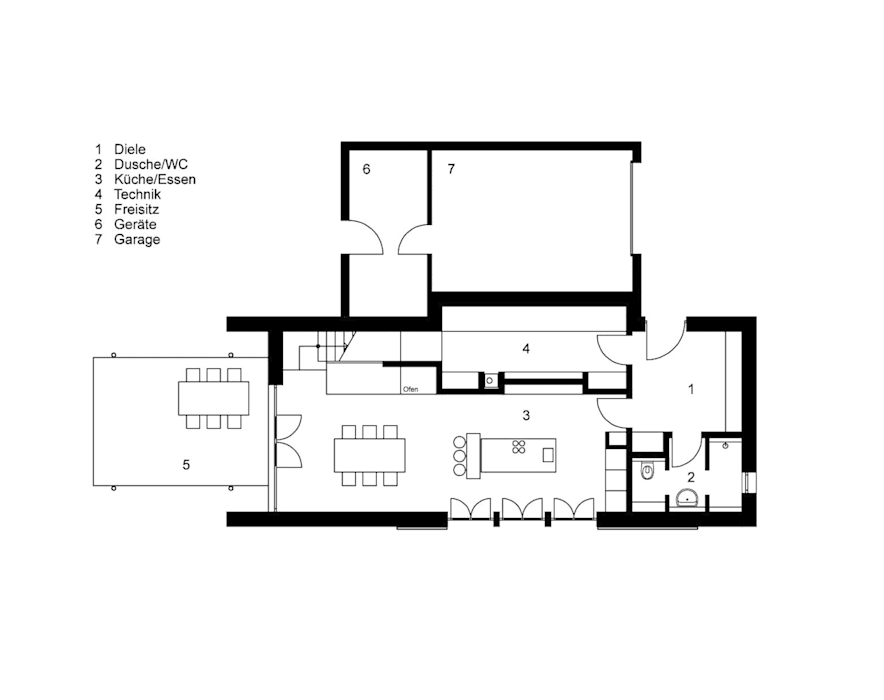 Erdgeschoss: modern  von Architekt Namberger,Modern