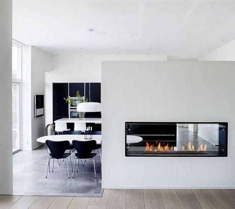 Einbauethanolkamin Montreal RF Design GmbH Moderne Esszimmer