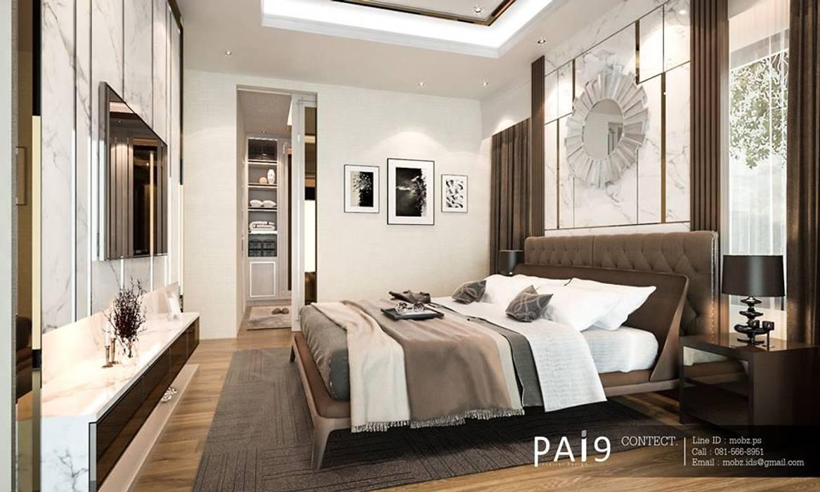 Project : Perfect Place 4 – Ratchapruek:  ห้องนอนขนาดเล็ก โดย PAI9 Interior Design Studio,