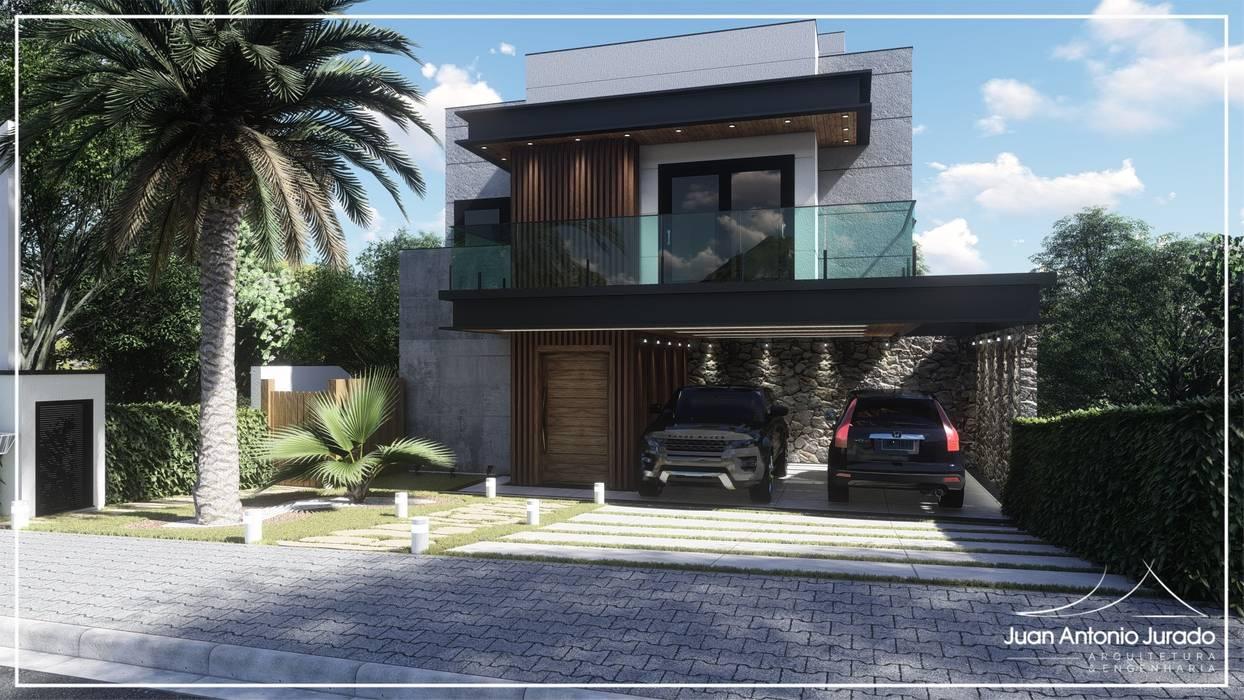 Fachada Moderna por Juan Jurado Arquitetura & Engenharia Rústico Ferro/Aço