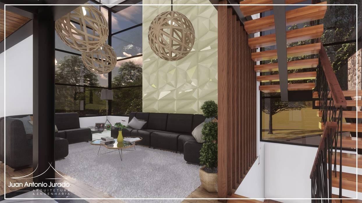 Sala de Estar: Salas de estar  por Juan Jurado Arquitetura & Engenharia,
