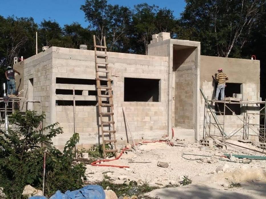 CASA 1 NIVEL TIPO MINIMALISTA 120 M2 : Casas prefabricadas de estilo  por INNOVACIONES FOURIER S DE RL DE CV ,
