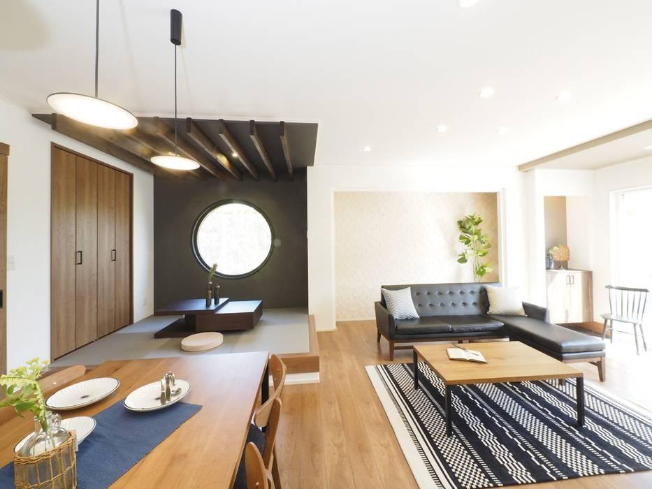 Live Sumai - アズ・コンストラクション - Asian style living room Black