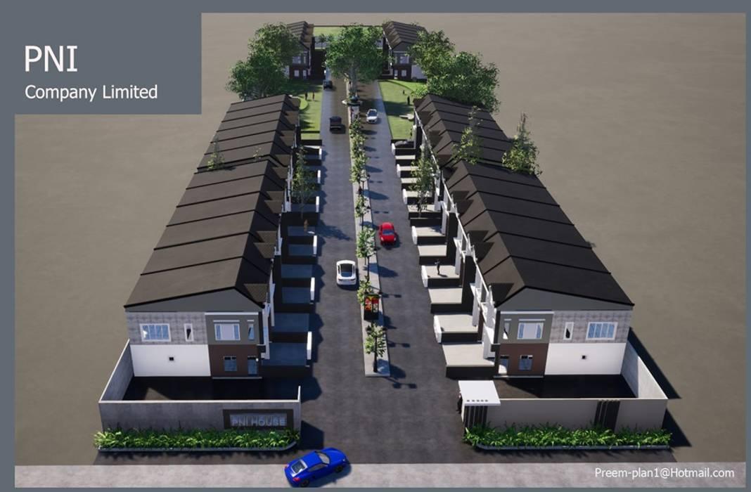 โครงการจัดสรรพื้นที่ บนเนื้อที่ 5 ไร่ โดย รับเขียนแบบบ้าน&ออกแบบบ้าน โมเดิร์น