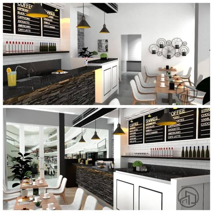Desain Interior Mini Cafe: Ruang Makan oleh A.D Desain Bandung,