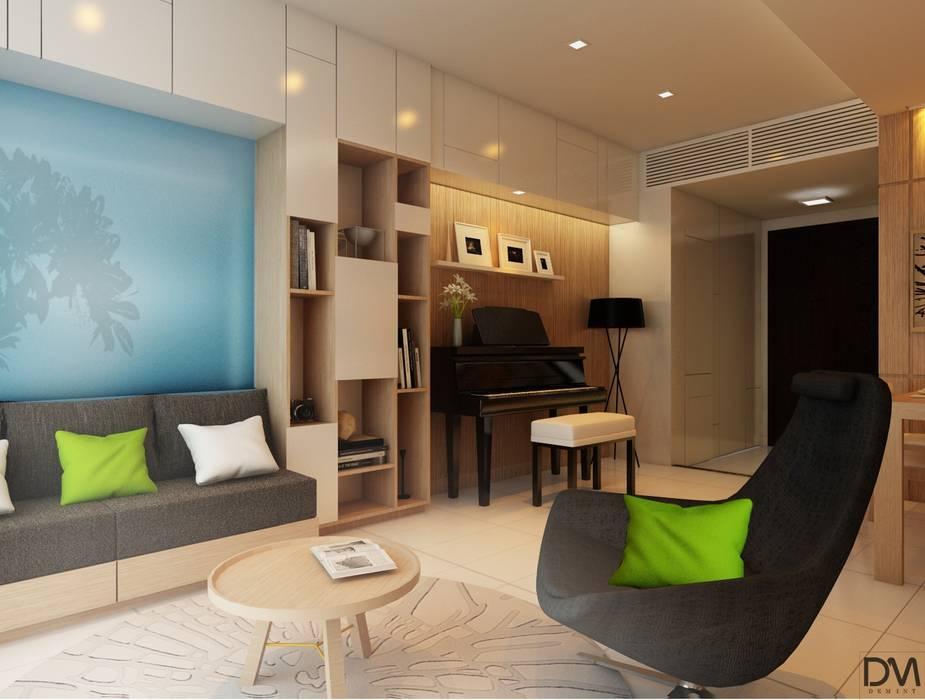 Căn hộ chung cư Galaxy 9 quân 4 TP HCM:  Phòng khách by Nguyen Phong Thiết kế nội thất,