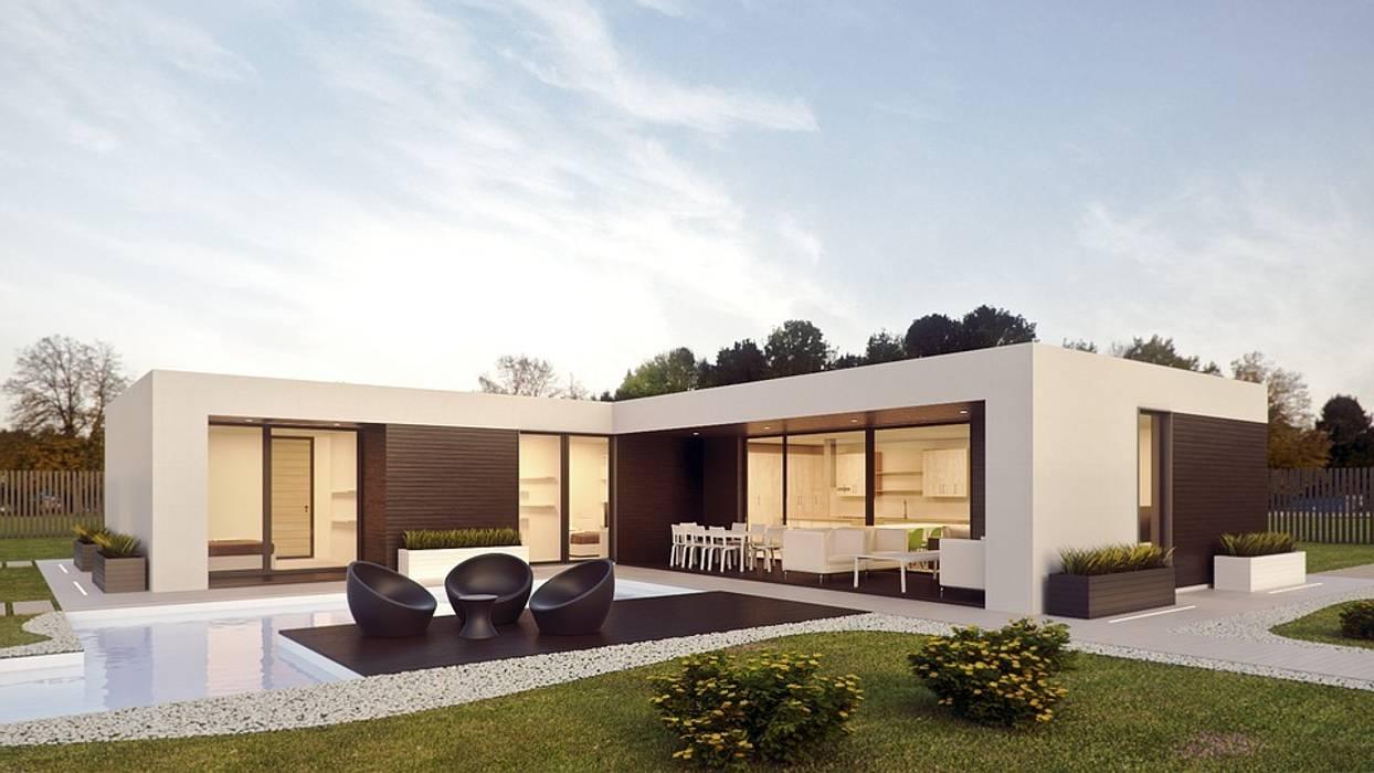 Casas prefabricadas y modulares: Casas prefabricadas de estilo  de Casalium,