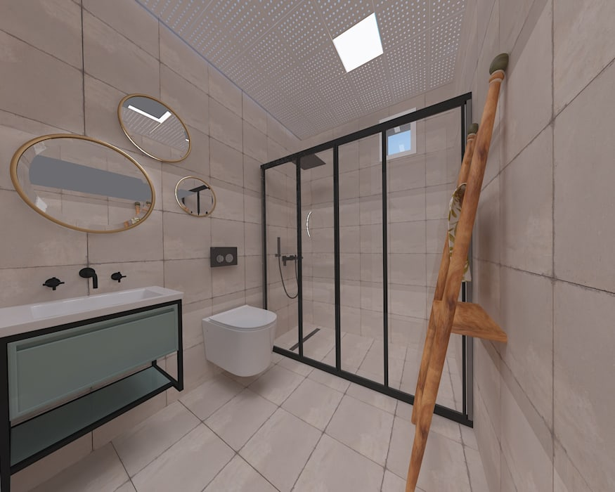 ASN İç Mimarlık  – Korkuteli KÖY EVİ:  tarz Banyo,