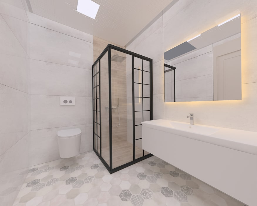 Korkuteli KÖY EVİ Kırsal Banyo ASN İç Mimarlık Kırsal/Country Seramik