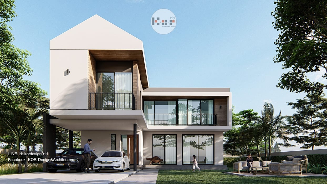 Project : modern minimalist house โดย Kor Design&Architecture ผสมผสาน คอนกรีต
