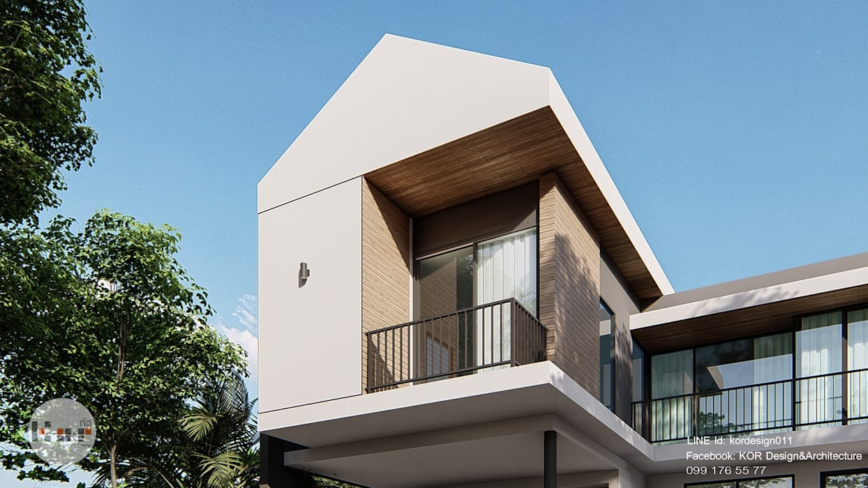 Project : modern minimalist house:  บ้านเดี่ยว by Kor Design&Architecture