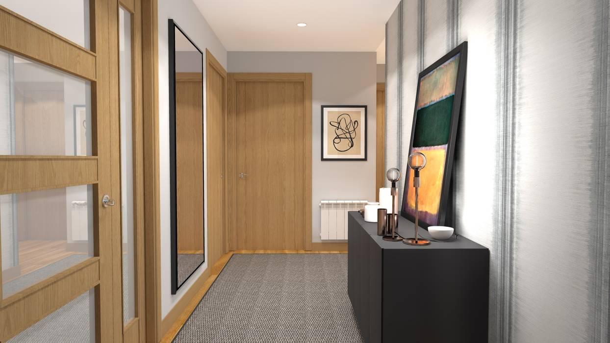 PROYECTO DECORACIÓN Pasillos, vestíbulos y escaleras de estilo moderno de PLAN B INTERIORISMO Moderno