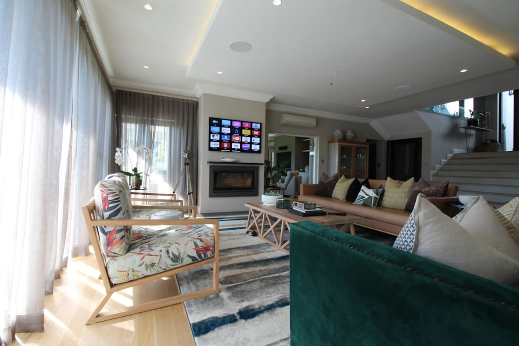 Living Room by Audio Visual Projects (PTY) Ltd Mediterranean
