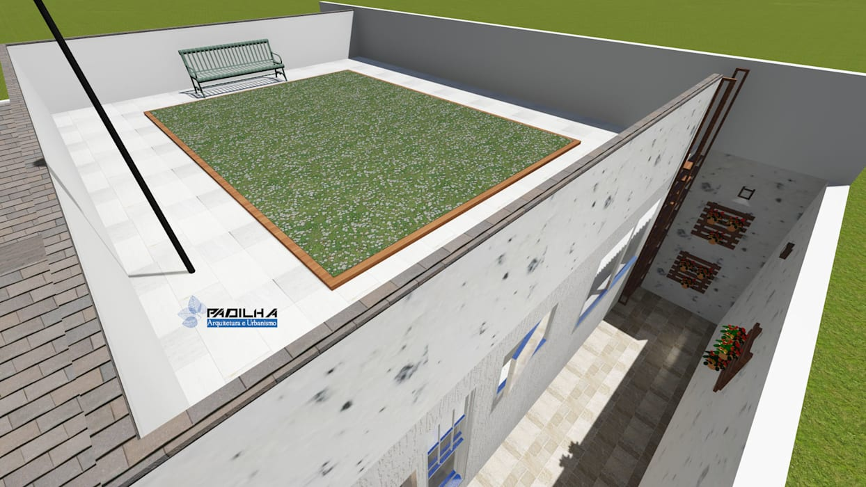 Telhado Verde por Padilha Arquitetura e Urbanismo Moderno