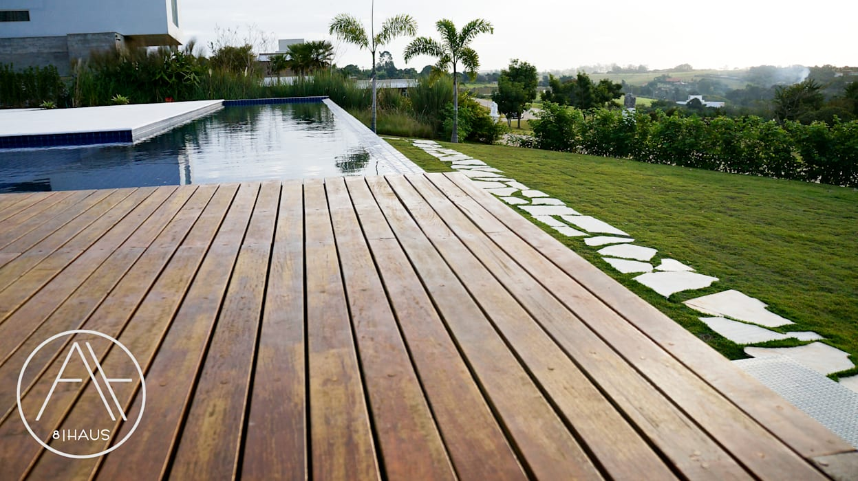 Infinity pool by 🔴 8HAUS - ARQUITETOS ASSOCIADOS 🔴, Minimalist Wood Wood effect