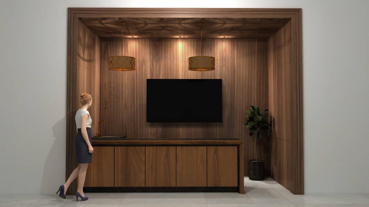 Vista Frontal de MADISSON Carpintería Moderno Madera Acabado en madera