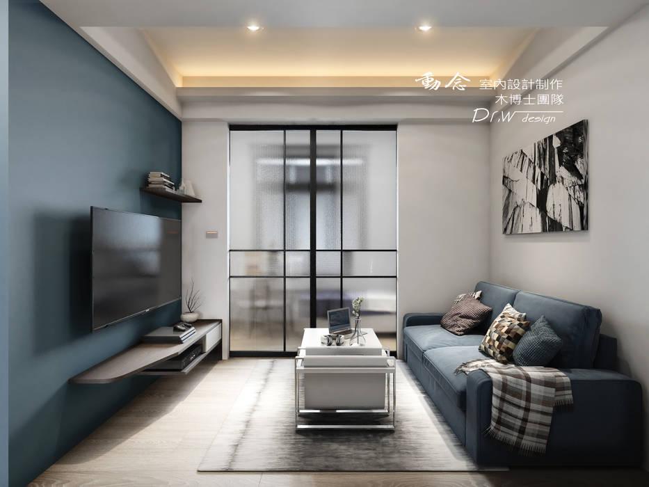 Puertas modernas de 木博士團隊/動念室內設計制作 Moderno