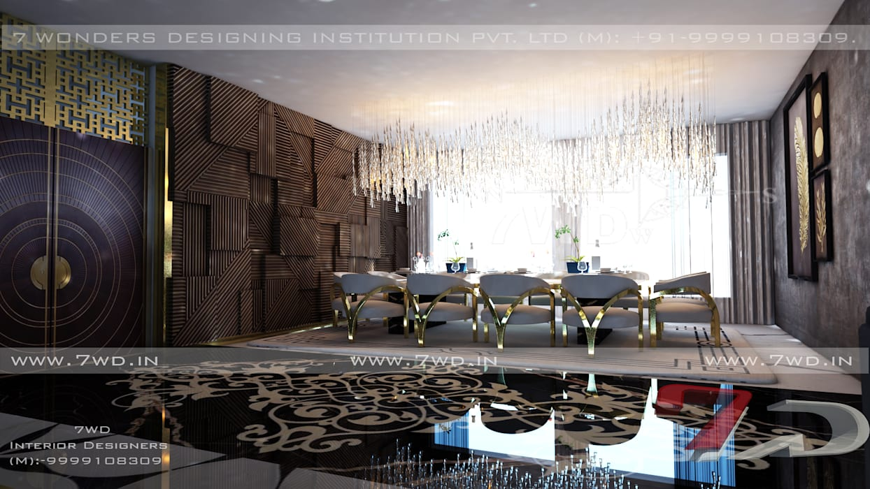Gold Luxe Interior Modern dining room by 7WD Interior Design Studio Modern