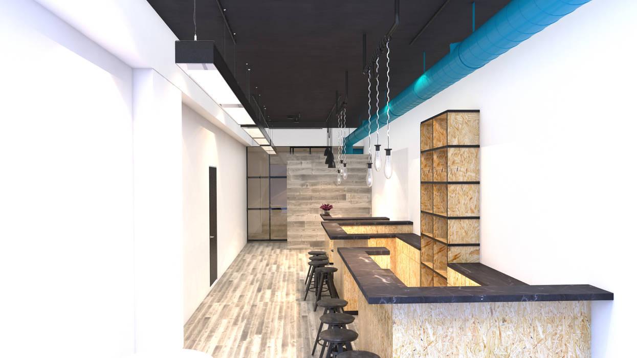 YOGA POLANCO: Estudios y oficinas de estilo  por PLARIST,