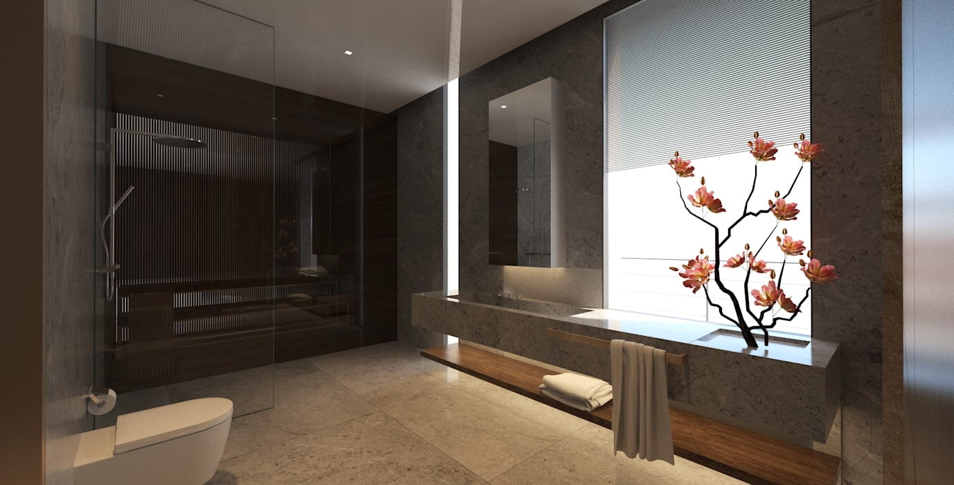 Yıldırım Villa Modern Banyo Robus Mimarlık Mühendislik Modern