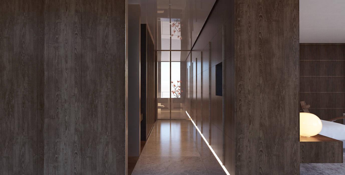 Yıldırım Villa Robus Mimarlık Mühendislik Minimalist Giyinme Odası