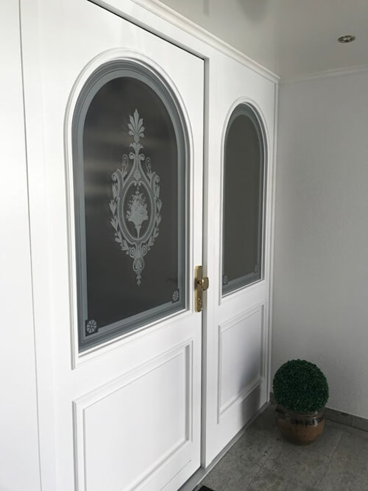 Ätzglas in haustür von glasdekore teufel landhaus glas | homify