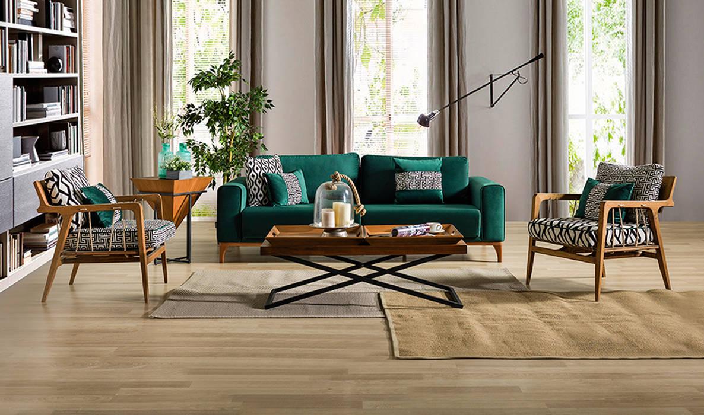 Sevilla Retro Salon Takımı CaddeYıldız furniture Modern Oturma Odası