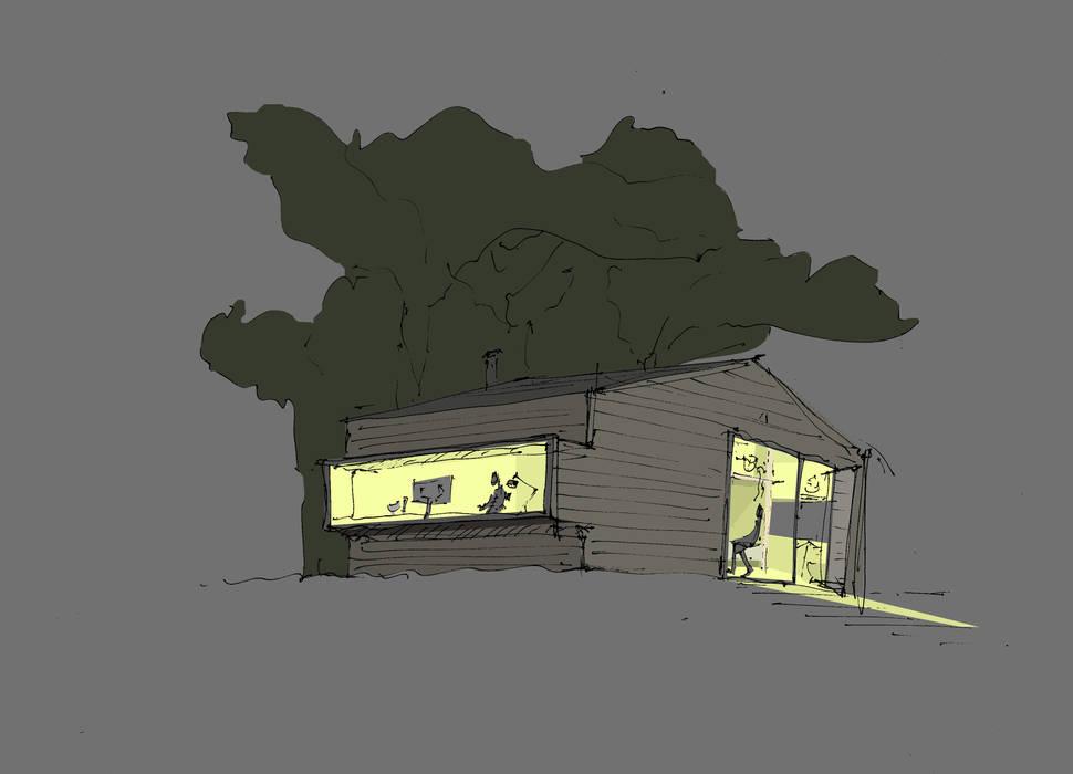 NACHTSCHICHT von DILL . Architektur & urbane Aesthetik Skandinavisch Holz Holznachbildung