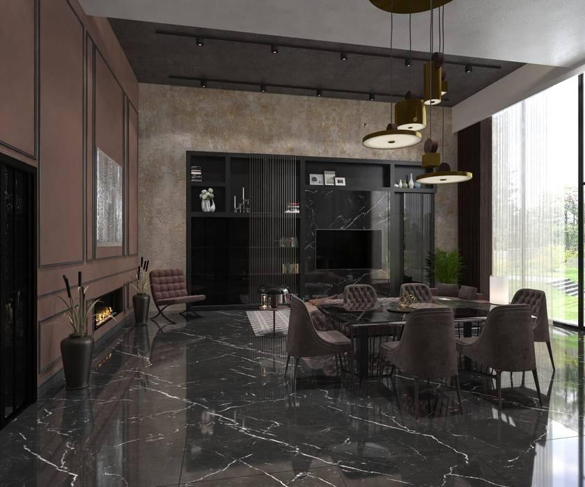 Decorvita mimarlık – Toskana Vadisi Villaları Yemek Odası:  tarz Yemek Odası, Modern