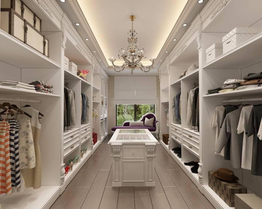 Decorvita mimarlık – Toskana Vadisi Villaları Giyinme Odası:  tarz Giyinme Odası, Modern