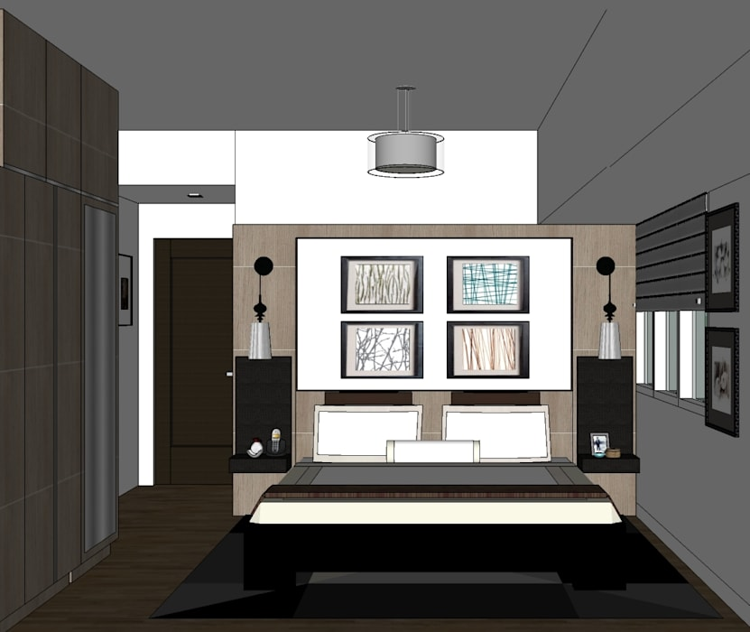 2 Bedroom Condominium Project:  Bedroom by MKC DESIGN, Modern