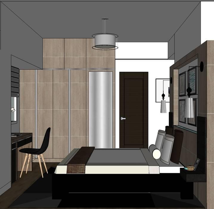 2 Bedroom Condominium Project:  Bedroom by MKC DESIGN, Modern