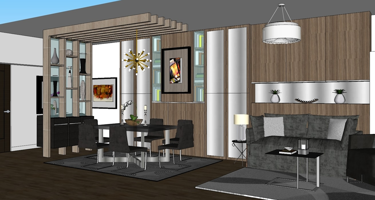 2 Bedroom Condominium Project:  Dining room by MKC DESIGN, Modern