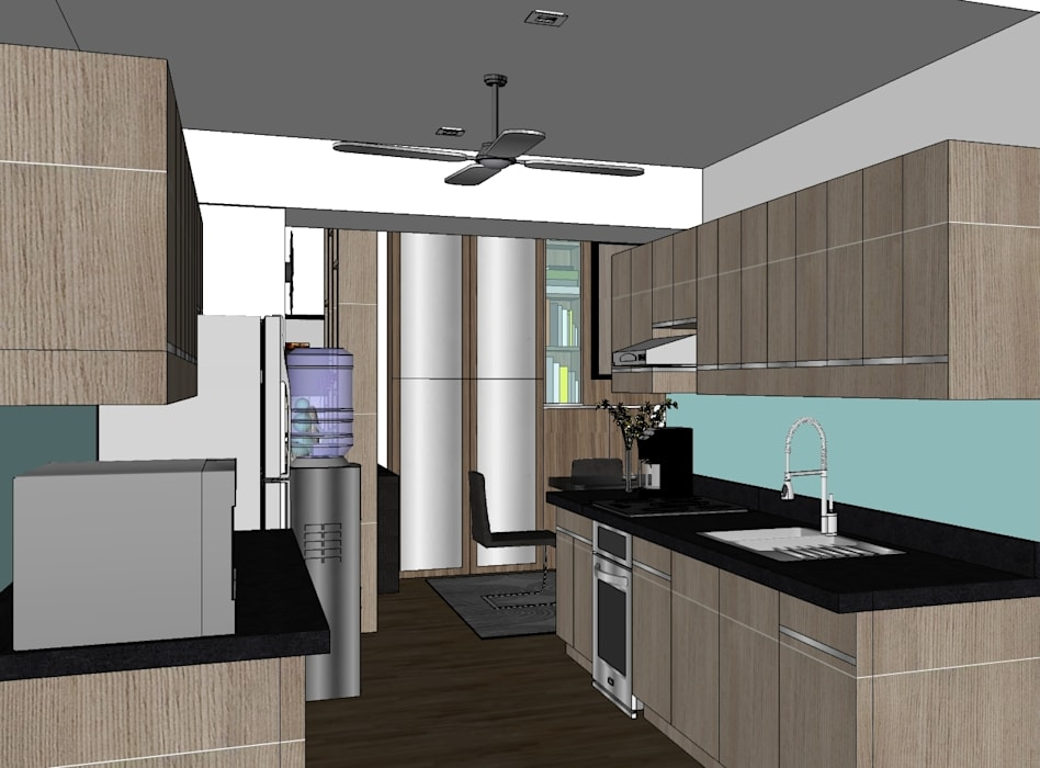 2 Bedroom Condominium Project:  Kitchen by MKC DESIGN, Modern
