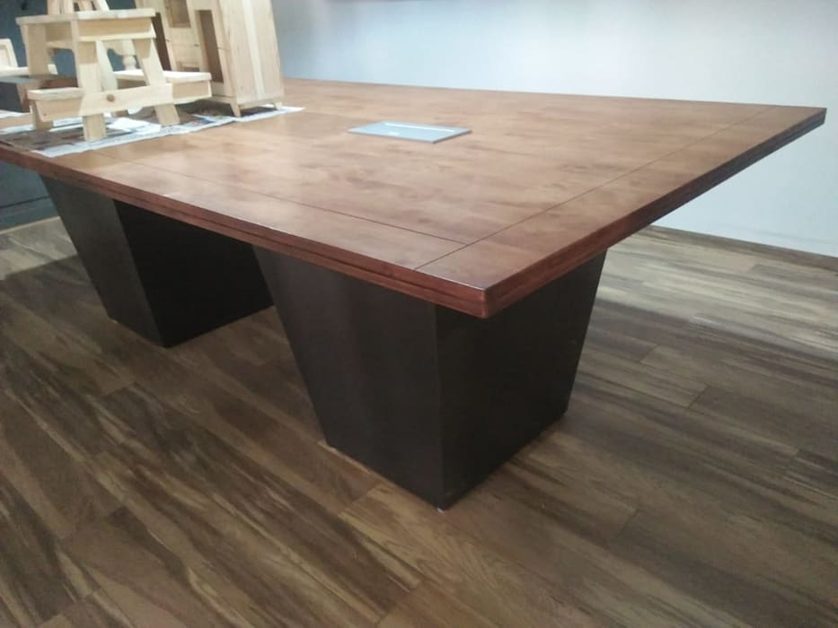 Conference Table: minimalist  by Grey-Woods,Minimalist Engineered Wood Transparent