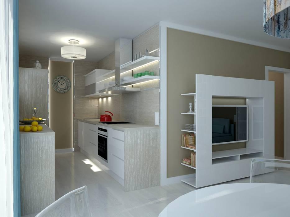 Petites cuisines de style  par Anastasia Reicher Interior Design & Decoration in Wien,