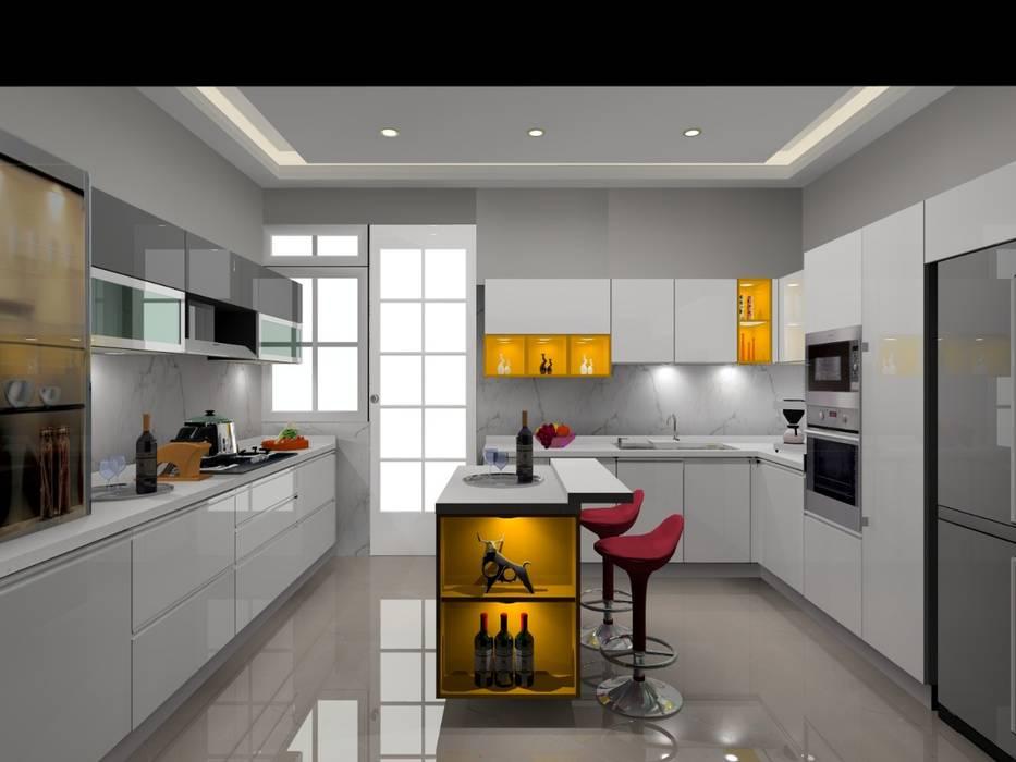 Noida Kitchen Design By Manglam Decor Homify