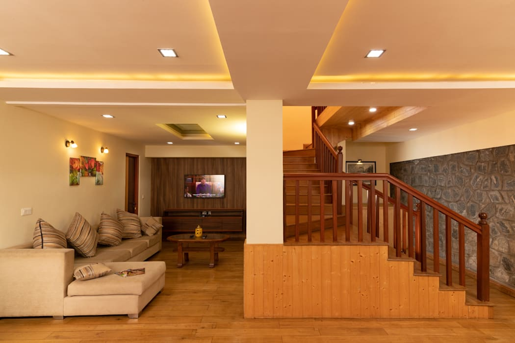 Vitrag Group - Fulbari - AV Room and Staircase by Vitrag Group Rustic