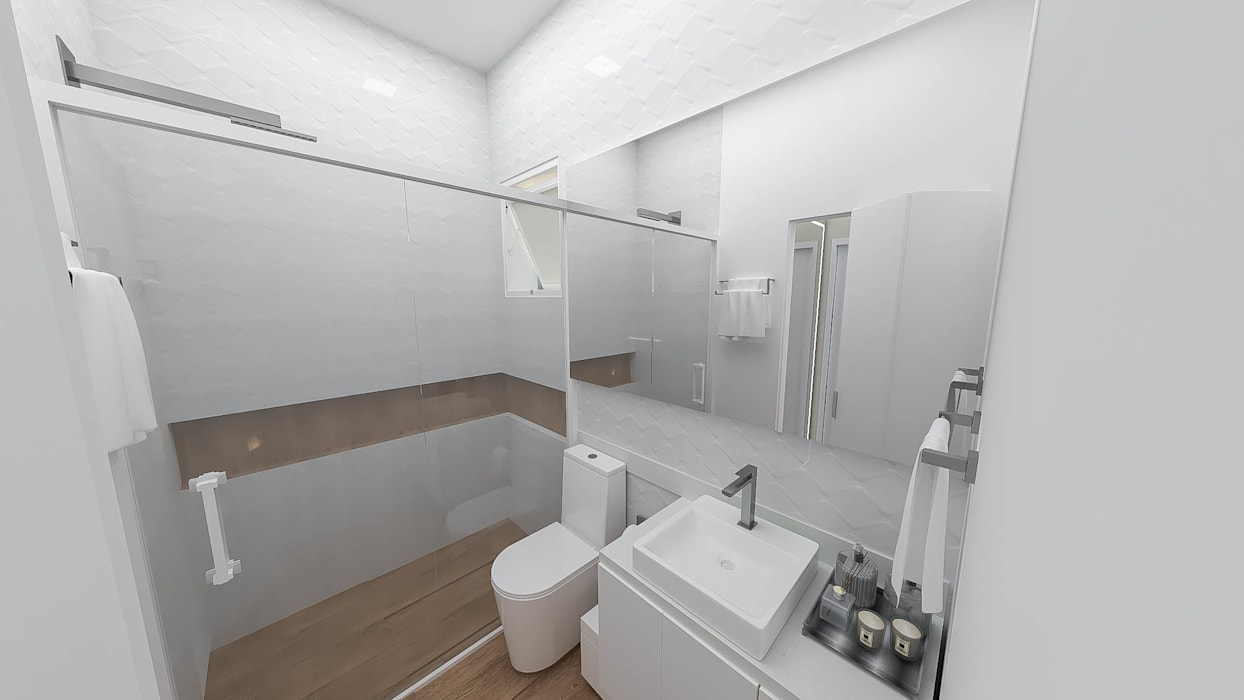 Kamar Mandi oleh Fareed Arquitetos Associados, Eklektik